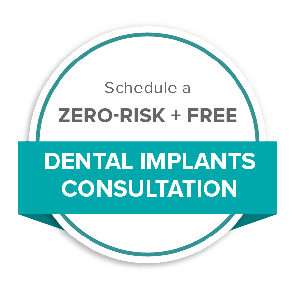 Schedule a zero-risk and free dental implants consultation